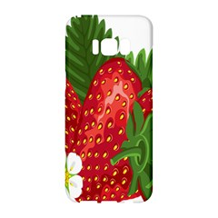 Strawberry Red Seed Leaf Green Samsung Galaxy S8 Hardshell Case  by Mariart