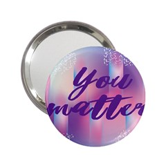 You Matter Purple Blue Triangle Vintage Waves Behance Feelings Beauty 2 25  Handbag Mirrors by Mariart
