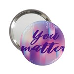 You Matter Purple Blue Triangle Vintage Waves Behance Feelings Beauty 2.25  Handbag Mirrors Front
