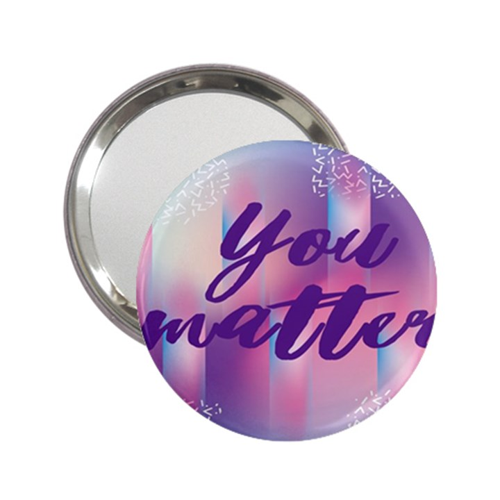 You Matter Purple Blue Triangle Vintage Waves Behance Feelings Beauty 2.25  Handbag Mirrors