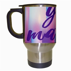 You Matter Purple Blue Triangle Vintage Waves Behance Feelings Beauty Travel Mugs (white) by Mariart