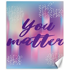 You Matter Purple Blue Triangle Vintage Waves Behance Feelings Beauty Canvas 20  X 24   by Mariart
