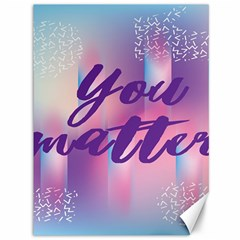 You Matter Purple Blue Triangle Vintage Waves Behance Feelings Beauty Canvas 36  X 48   by Mariart