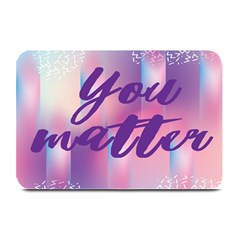 You Matter Purple Blue Triangle Vintage Waves Behance Feelings Beauty Plate Mats by Mariart