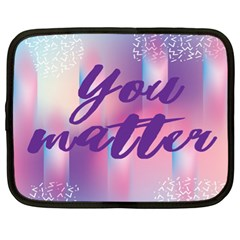 You Matter Purple Blue Triangle Vintage Waves Behance Feelings Beauty Netbook Case (xl)  by Mariart