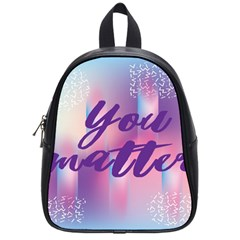 You Matter Purple Blue Triangle Vintage Waves Behance Feelings Beauty School Bags (small)  by Mariart