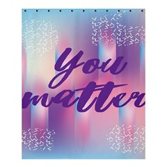 You Matter Purple Blue Triangle Vintage Waves Behance Feelings Beauty Shower Curtain 60  X 72  (medium)  by Mariart
