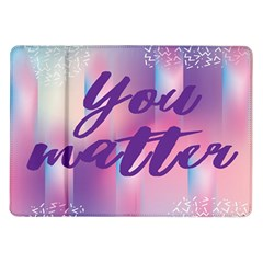 You Matter Purple Blue Triangle Vintage Waves Behance Feelings Beauty Samsung Galaxy Tab 10 1  P7500 Flip Case by Mariart
