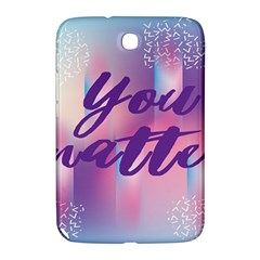 You Matter Purple Blue Triangle Vintage Waves Behance Feelings Beauty Samsung Galaxy Note 8 0 N5100 Hardshell Case  by Mariart