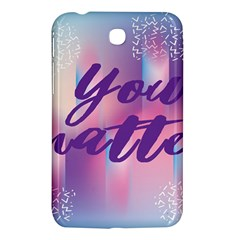 You Matter Purple Blue Triangle Vintage Waves Behance Feelings Beauty Samsung Galaxy Tab 3 (7 ) P3200 Hardshell Case  by Mariart