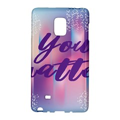 You Matter Purple Blue Triangle Vintage Waves Behance Feelings Beauty Galaxy Note Edge by Mariart