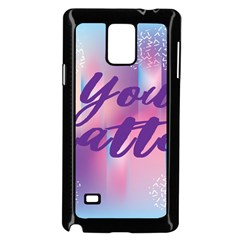 You Matter Purple Blue Triangle Vintage Waves Behance Feelings Beauty Samsung Galaxy Note 4 Case (black) by Mariart