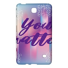 You Matter Purple Blue Triangle Vintage Waves Behance Feelings Beauty Samsung Galaxy Tab 4 (7 ) Hardshell Case  by Mariart