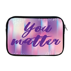 You Matter Purple Blue Triangle Vintage Waves Behance Feelings Beauty Apple Macbook Pro 17  Zipper Case by Mariart