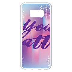 You Matter Purple Blue Triangle Vintage Waves Behance Feelings Beauty Samsung Galaxy S8 Plus White Seamless Case