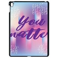 You Matter Purple Blue Triangle Vintage Waves Behance Feelings Beauty Apple Ipad Pro 9 7   Black Seamless Case