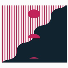 Waves Line Polka Dots Vertical Black Pink Canvas 20  X 24   by Mariart