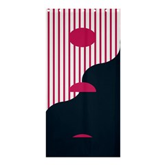Waves Line Polka Dots Vertical Black Pink Shower Curtain 36  X 72  (stall)