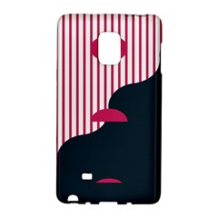 Waves Line Polka Dots Vertical Black Pink Galaxy Note Edge by Mariart