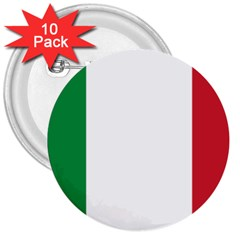 National Flag Of Italy  3  Buttons (10 Pack)  by abbeyz71