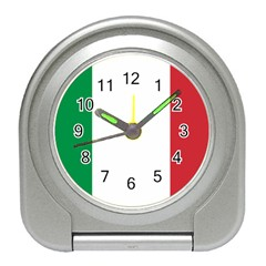 National Flag Of Italy  Travel Alarm Clocks by abbeyz71