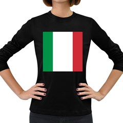 National Flag Of Italy  Women s Long Sleeve Dark T-shirts by abbeyz71
