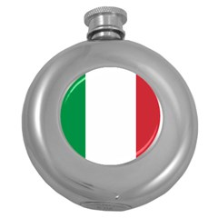 National Flag Of Italy  Round Hip Flask (5 Oz) by abbeyz71