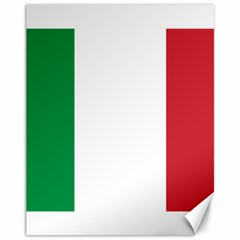 National Flag Of Italy  Canvas 11  X 14   by abbeyz71