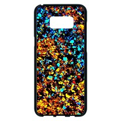 Colorful Seashell Beach Sand Samsung Galaxy S8 Plus Black Seamless Case by Costasonlineshop