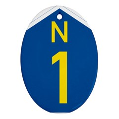 South Africa National Route N1 Marker Oval Ornament (two Sides)