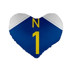 South Africa National Route N1 Marker Standard 16  Premium Flano Heart Shape Cushions by abbeyz71