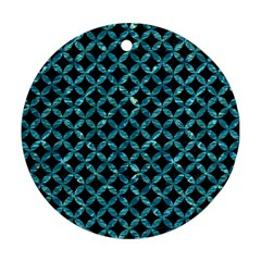 Circles3 Black Marble & Blue Green Water Ornament (round) by trendistuff