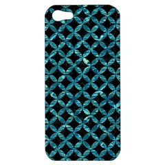 Circles3 Black Marble & Blue Green Water Apple Iphone 5 Hardshell Case by trendistuff