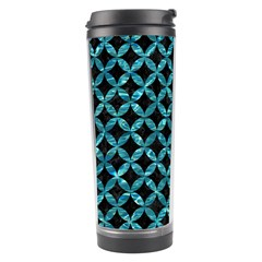 Circles3 Black Marble & Blue Green Water Travel Tumbler by trendistuff