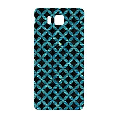 Circles3 Black Marble & Blue Green Water Samsung Galaxy Alpha Hardshell Back Case by trendistuff