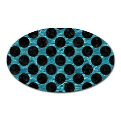 Circles2 Black Marble & Blue Green Water (r) Magnet (oval) by trendistuff