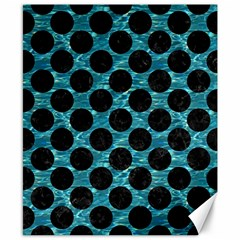 Circles2 Black Marble & Blue Green Water (r) Canvas 8  X 10  by trendistuff