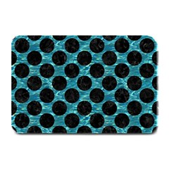 Circles2 Black Marble & Blue Green Water (r) Plate Mat by trendistuff