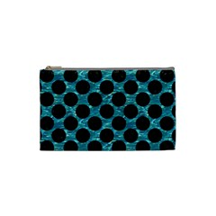 Circles2 Black Marble & Blue Green Water (r) Cosmetic Bag (small) by trendistuff