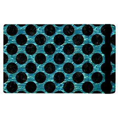 Circles2 Black Marble & Blue Green Water (r) Apple Ipad 2 Flip Case by trendistuff