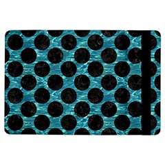 Circles2 Black Marble & Blue Green Water (r) Apple Ipad Air Flip Case by trendistuff
