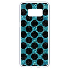 Circles2 Black Marble & Blue Green Water (r) Samsung Galaxy S8 White Seamless Case by trendistuff