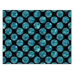 Circles2 Black Marble & Blue Green Water Jigsaw Puzzle (rectangular) by trendistuff