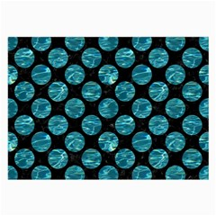 Circles2 Black Marble & Blue Green Water Large Glasses Cloth (2 Sides) by trendistuff
