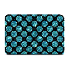 Circles2 Black Marble & Blue Green Water Plate Mat by trendistuff
