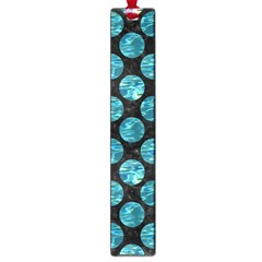 Circles2 Black Marble & Blue Green Water Large Book Mark by trendistuff