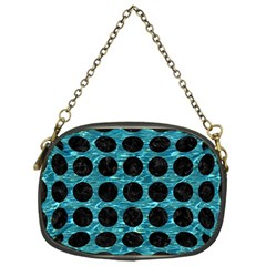 Circles1 Black Marble & Blue Green Water (r) Chain Purse (one Side) by trendistuff