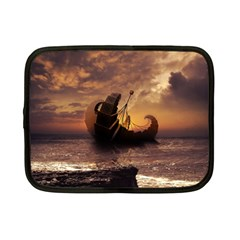 Steampunk Fractalscape, A Ship For All Destinations Netbook Case (small)  by jayaprime