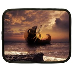 Steampunk Fractalscape, A Ship For All Destinations Netbook Case (xl)  by jayaprime