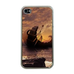 Steampunk Fractalscape, A Ship For All Destinations Apple Iphone 4 Case (clear) by jayaprime